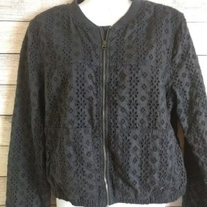 Cute black eyelet jacket